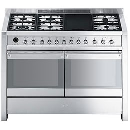 Smeg A4-8 Opera 120cm Dual Fuel Range Cooker - Stainless Steel