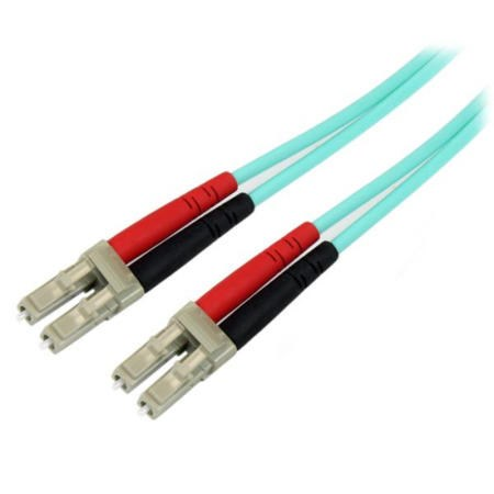 StarTech.com 5m 10 Gb Aqua Multimode 50/125 Duplex LSZH Fiber Patch Cable LC - LC