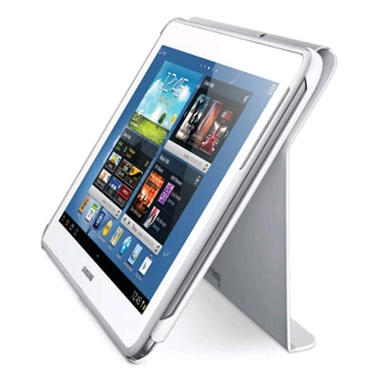 "Book Cover 11.6"" Synthetic Leather Case for Samsung Smart PC - White"