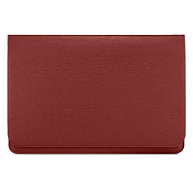 "Slim Pouch 13.3"" Synthetic Leather Case - Red"