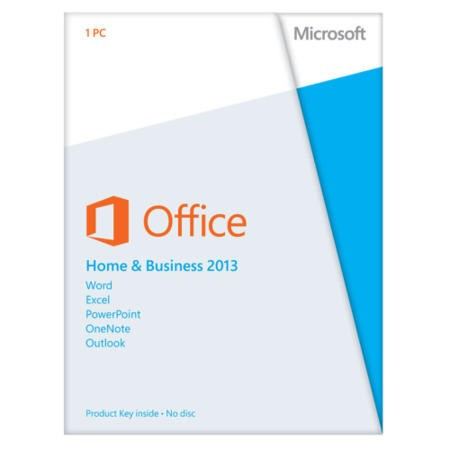 Microsoft Office Home and Business 2013  Medialess 1 User 1 Device - Electronic Download