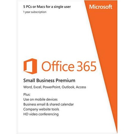ESD Microsoft Office 365 Small Business Medialess - 1 Year Subscription 1 User 5 Devices - Electronic Download