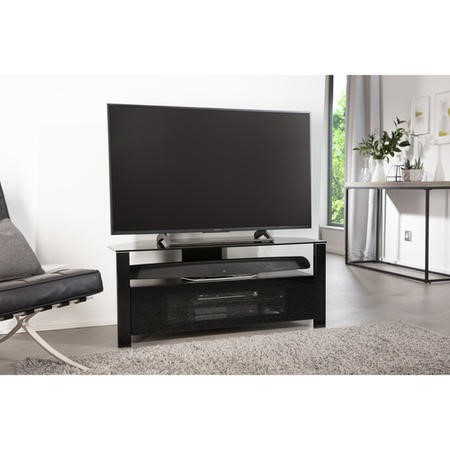 "ABRD1100-BLK Alphason ABRD1100-BLK Ambri TV Stand for up to 50"" TVs - Black"