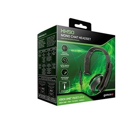 Gioteck XH-50 Mono Chat Headset in Green & Black - Multi Platform