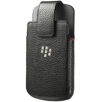 Blackberry Q10 Leather Swivel Holster  Black