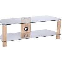 "Alphason ADCE1200-LO Century TV Stand for up to 55"" TVs - Light Oak"