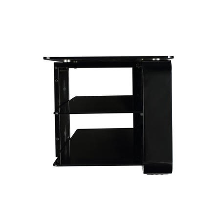 Alphason ADL1400-BLK Lithium 1400 Black TV Stand