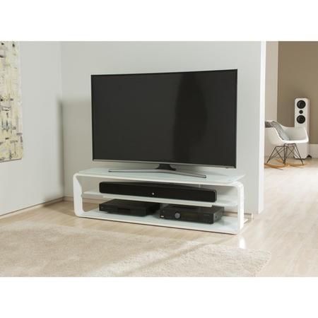 ADL1400-WHT Alphason ADL1400-WHT Lithium 1400 White TV Stand
