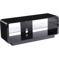 Alphason ADLU1200-BLK Luna 1200 Black TV Stand