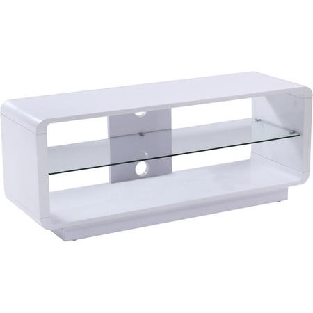 "ADLU1200-WHT Alphason ADLU1200-WHT Luna White TV Stand for up to 60"" TVs"