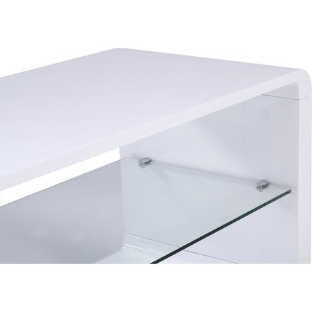 "Alphason ADLU1200-WHT Luna White TV Stand for up to 60"" TVs"