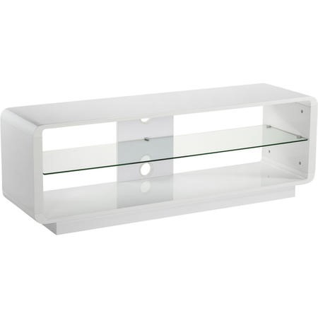 "ADLU1400-WHT Alphason ADLU1400-WHT Luna White TV Stand for up to 72"" TVs"