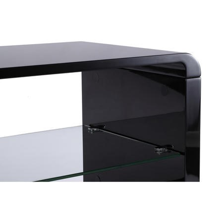 Alphason ADLU800-BLK Luna 800 Black TV Stand
