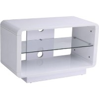 "Alphason ADLU800-WHT Luna TV Stand for up to 37"" TVs - White"