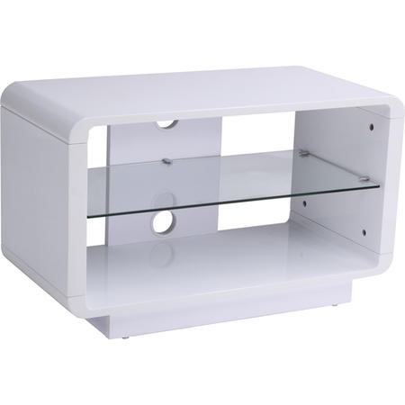 "ADLU800-WHT Alphason ADLU800-WHT Luna White TV Stand for up to 37"" TVs"