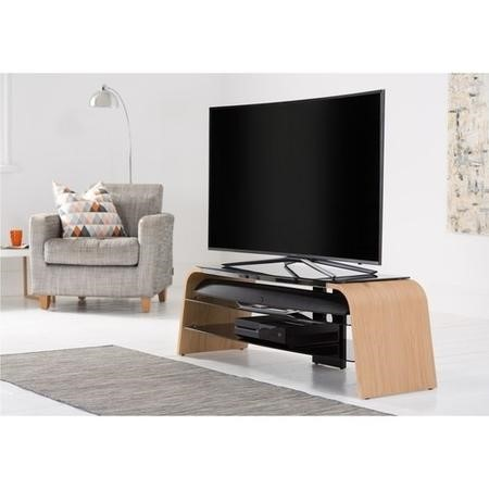 "Alphason ADSP1200-LO Spectrum Light Oak TV Stand for up to 55"" TVs"