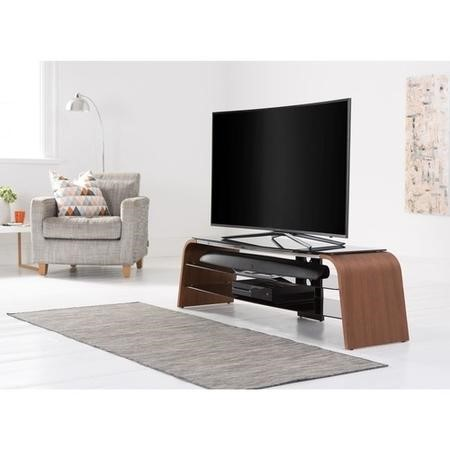"ADSP1200-WAL Alphason ADSP1200-WAL Spectrum Walnut TV Stand for up to 50"" TVs"