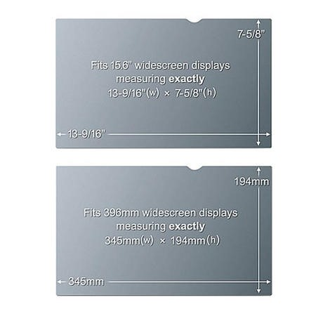 3M Frameless Anti-Glare Filter for Widescreen Laptops 15.6 Inch