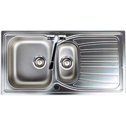 Astracast AI0951HV Alto 1.5 Bowl Reversible Drainer Satin Polish Stainless Steel Sink Only