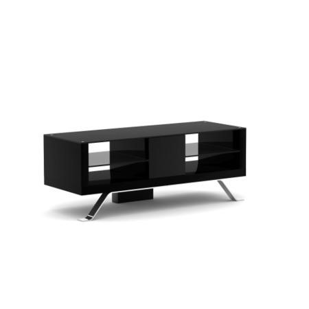 Elmob Arcadia Open Black TV Cabinet - Up to 50 Inch
