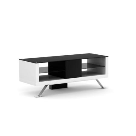 Elmob Arcadia Open White TV Cabinet - Up to 50 Inch