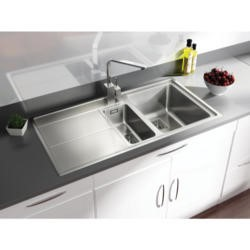 Rangemaster AR9852L Arlington 985x508 1.5 Bowl LHD Drainer Stainless Steel Sink