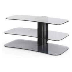 Off The Wall Arc 1000 Grey - Wide Curved glass Stand