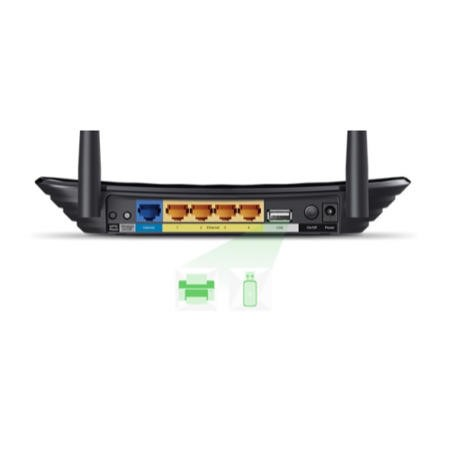 TP-Link Archer C2 AC750 Dual Band Wireless Gigabit Router  4 ports