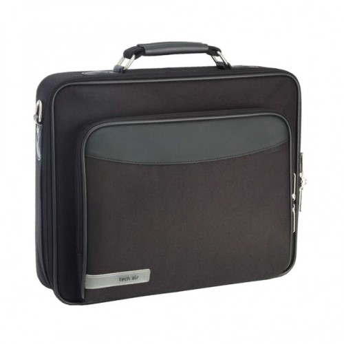 "Tech Air 15.6"" Laptop Briefcase with shoulder strap - Black"