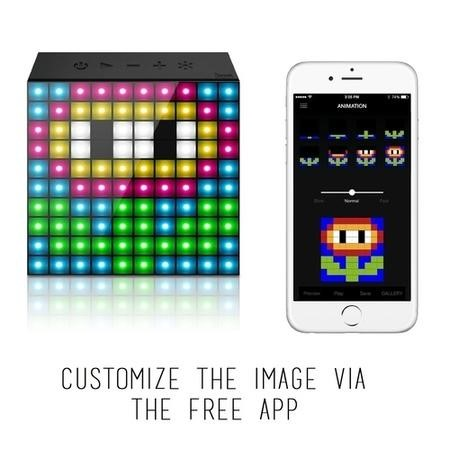 AuraBox Customisable LED Pixel Art Bluetooth Speaker & Alarm Clock - Draw Your Own Designs!