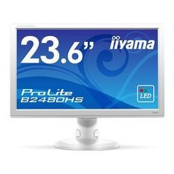 "Iiyama B2480HS-W1 24"" LED 1920x1080  VGA DVI HDMI Height Adjust Pivot Speakers White"