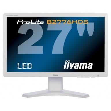 "Iiyama 27"" LCD LED-Backlit Heigh Adjustable Monitor Full HD 1920 x 1080 16_9 White Bezel 2 x 1.5W Built-In Speakers VGA DVI-D HDMI."