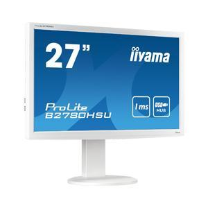 "Iiyama B2780HSU 27"" LED 1080p VGA DVI HDMI MM HAS White Monitor"