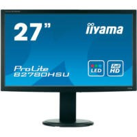 "Iiyama B2780HSU-B 27"" LED 1920x1080 VGA DVI HDMI 4 x USB Height Adjust Speakers Black Monitor"