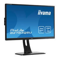 "Iiyama ProLite B2783QSU 27"" LED Backlit LCD 2560x1440 1ms HDMI DVI DP USB FreeSync Monitor"