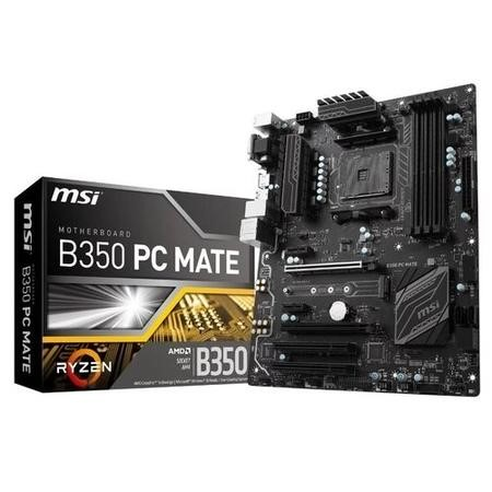 MSI AMD B350 PC Mate DDR4 AM4 ATX Motherboard