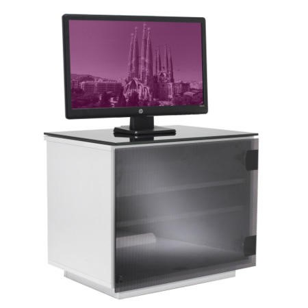 UK-CF Barcelona White & Black TV Cabinet - Up to 42 Inch