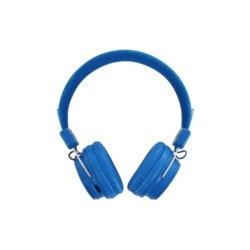 BeeWi GroundBee Bluetooth Stereo  Wired Headphones Blue