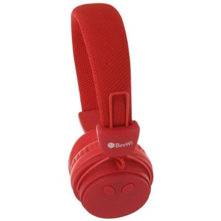 BeeWi GroundBee Bluetooth Stereo  Wired Headphones Red