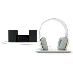 BeeWi GhostBee Bluetooth Stereo Headphones Foldable w/Dock White