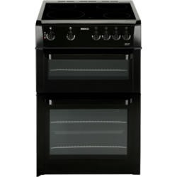 Beko BDC643K 60cm Double Cavity Electric Cooker WIth Ceramic Hob Black