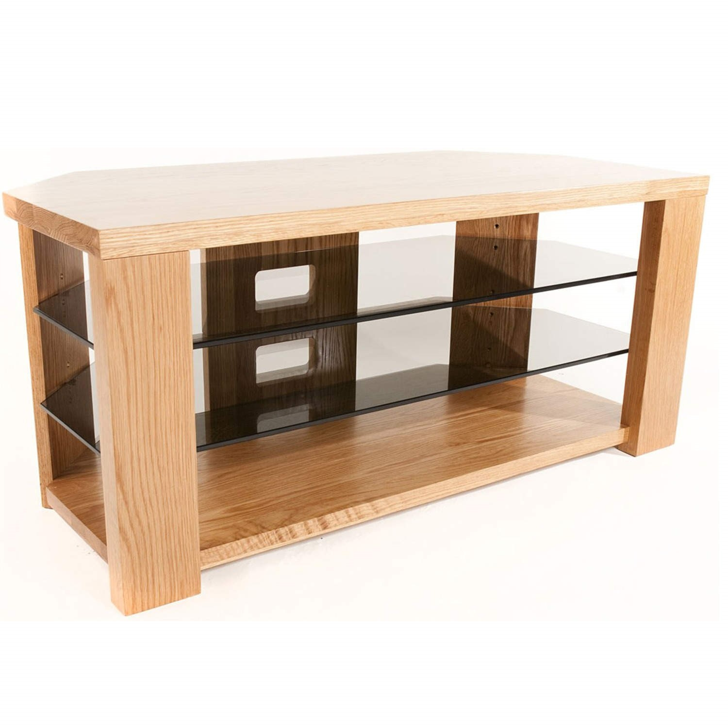 meet f0736 132b9 Optimum BENCH 1200 Solid Oak TV Stand - Up to 55 inch