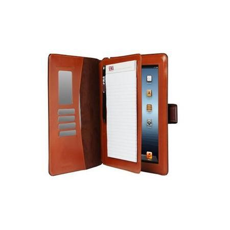 Sena Florence Portfolio Leather Case for iPad2/3/4 with Stylus  Notepad - Brown