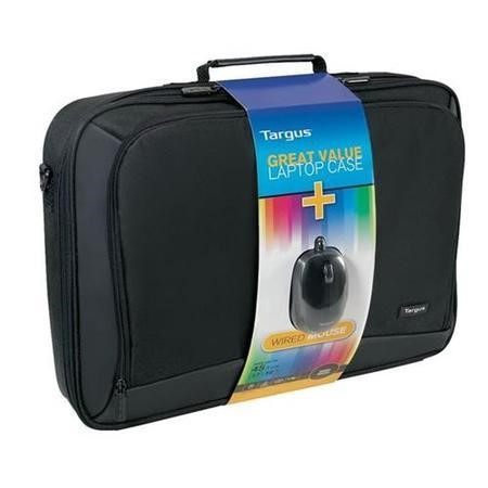 "Targus Great Value Laptop Case and Wired Mouse for 17"" to 18"" Laptops - Black"