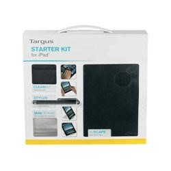 Targus Vuscape Starter Kit for iPad with Black Vuscape iPad Case Stylus and Cleaning Pad