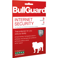 BullGuard Internet Security - 12 Month Subscription - 3 Devices