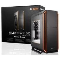 Be Quiet! Silent Base 800 Mid Tower Gaming Case with Window in Black/Orange