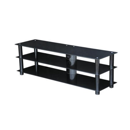 GRADE A2 - Light cosmetic damage - MMT BLKSTD1400 Glass TV Stand - Up to 60 Inch