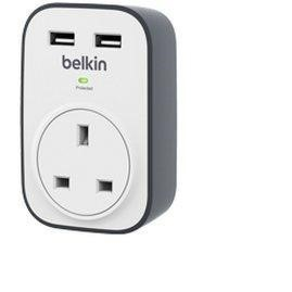 Belkin SurgeCube 1-Way Surge Protector with 2 USB Charging Plug