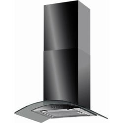 Baumatic BT6.3BGL Curved Glass 60cm Chimney Cooker Hood Black